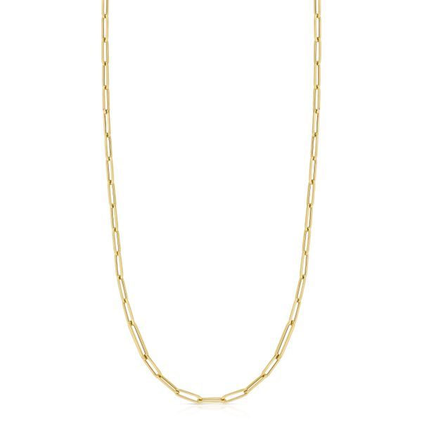 "Designer Gold Chain Link 34"" Necklace in 18kt Yellow Gold Jacqueline's Fine Jewelry Morgantown, WV"