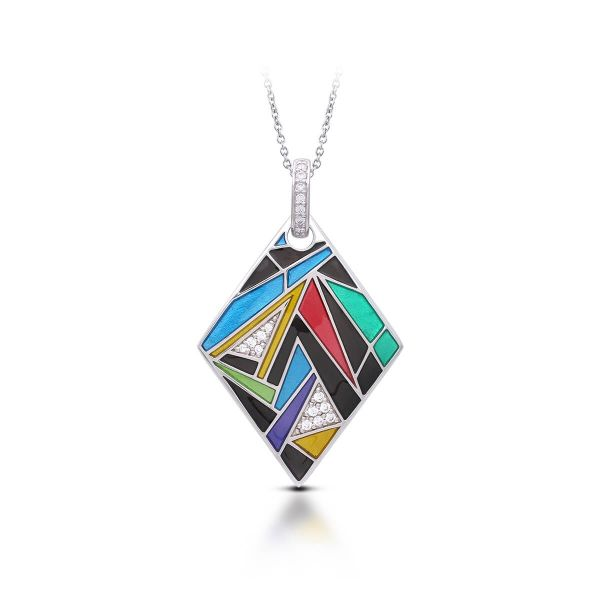 Multicolored Italian Enamel Pendant