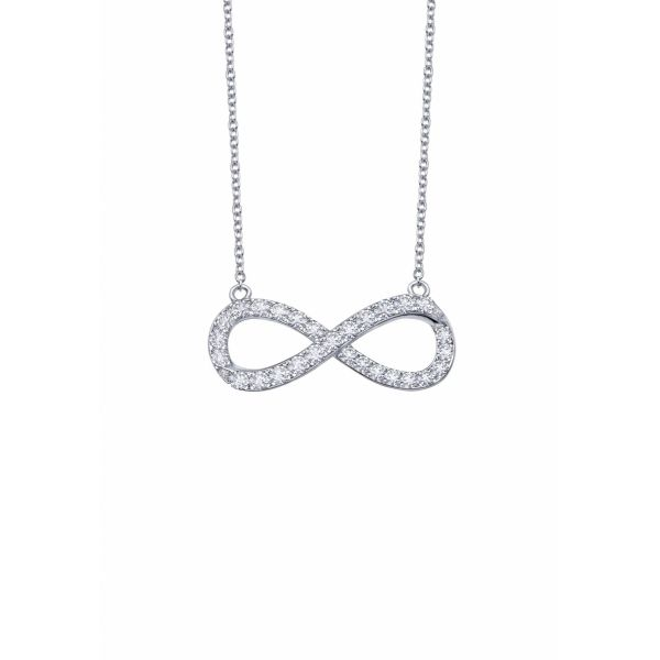 Infinity Symbol Necklace, Sterling Silver