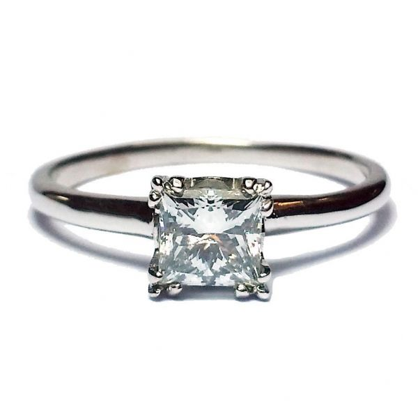 0.71ct Princess Cut Diamond in Solitaire Ring Jae's Jewelers Coral Gables, FL