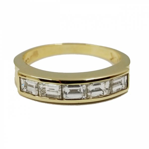 Horizontal Baguette Channel Diamond Ring Jae's Jewelers Coral Gables, FL