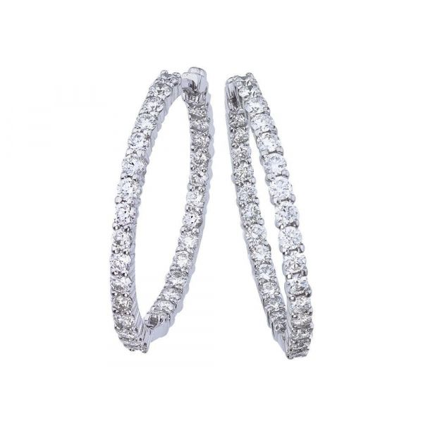 2.84 cttw Diamond Hoops Jae's Jewelers Coral Gables, FL