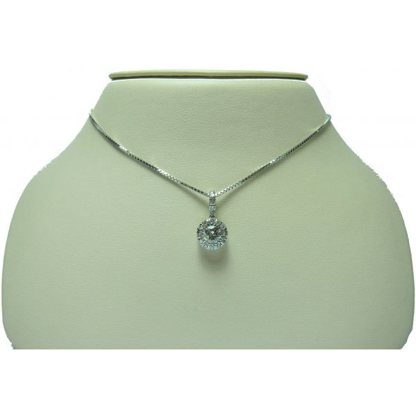 Round Halo Necklace - 0.77 cttw Jae's Jewelers Coral Gables, FL