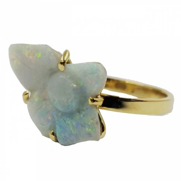 Opal Flower Ring Jae's Jewelers Coral Gables, FL