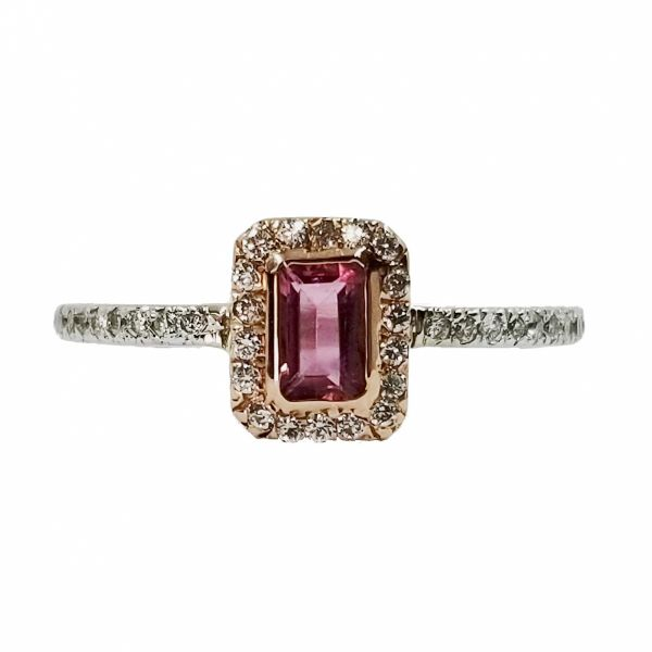 Pink Tourmaline and Diamond Ring Jae's Jewelers Coral Gables, FL
