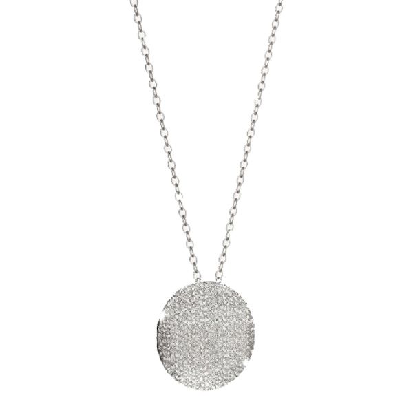 R-Zero Textured Disc Necklace Jae's Jewelers Coral Gables, FL