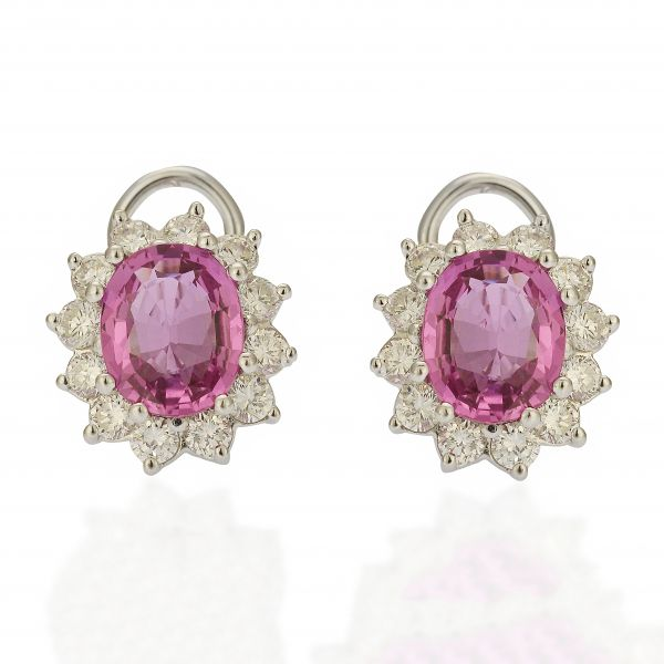 Pink Sapphire Earrings Jae's Jewelers Coral Gables, FL