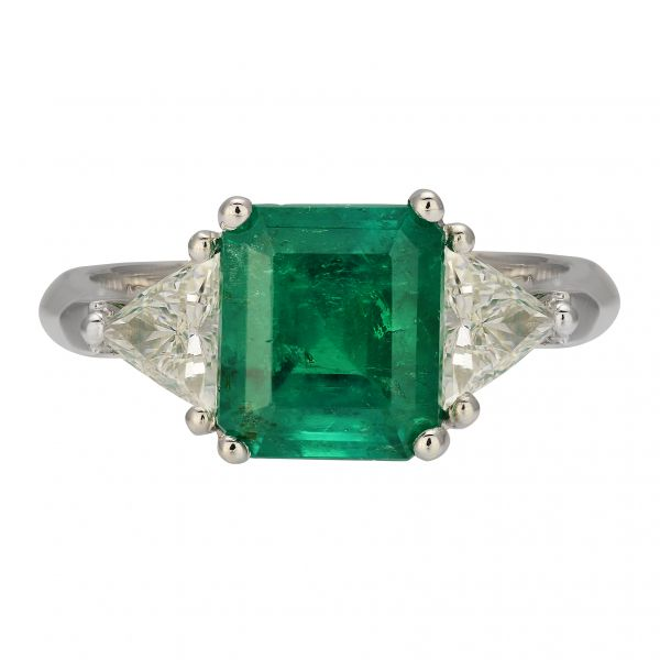 Emerald & Diamond Ring Jae's Jewelers Coral Gables, FL