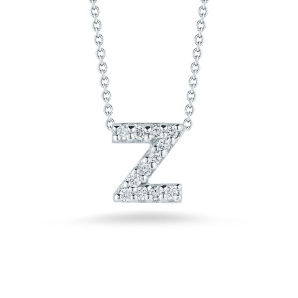 Tiny Initial ''Z'' Necklace Jae's Jewelers Coral Gables, FL