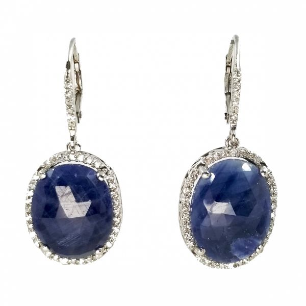 Diamond and Sapphire Earrings Jae's Jewelers Coral Gables, FL