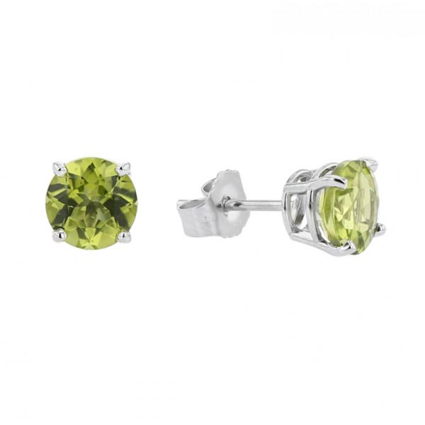Peridot Stud Earrings Jae's Jewelers Coral Gables, FL