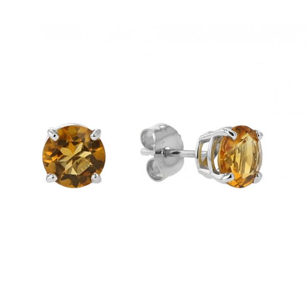 Citrine Stud Earrings Jae's Jewelers Coral Gables, FL