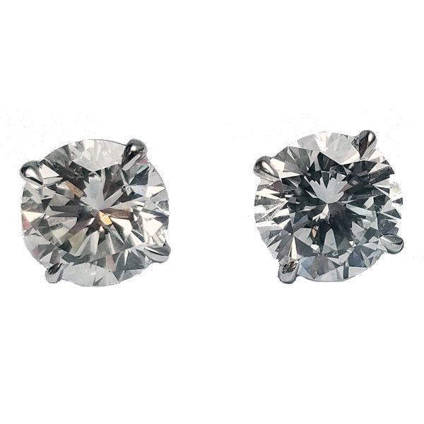 3.19 Carat Diamond Stud Earrings Jae's Jewelers Coral Gables, FL