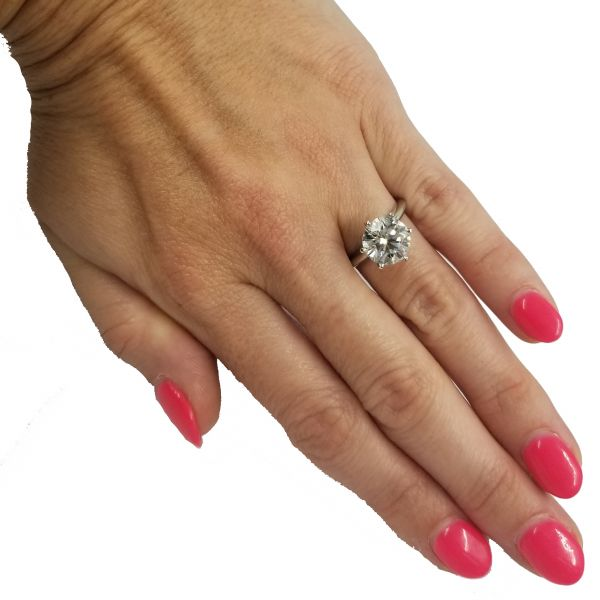 3.01 Carat Round Diamond Solitaire Image 2 Jae's Jewelers Coral Gables, FL