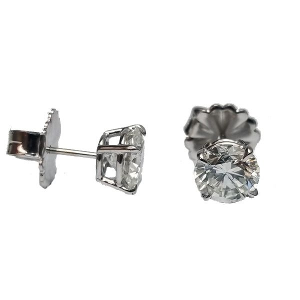 3.19 Carat Diamond Stud Earrings Image 2 Jae's Jewelers Coral Gables, FL