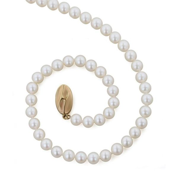 5mm 18 Inch White Pearl Necklace Jae's Jewelers Coral Gables, FL