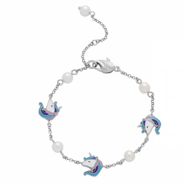 Girls Unicorn and Pearl Bracelet Jae's Jewelers Coral Gables, FL