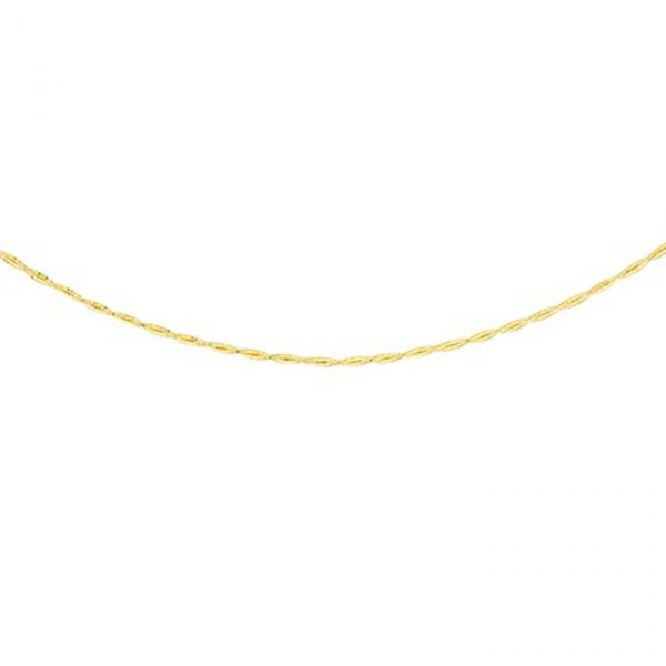 Gold Twisted Spring Wire Necklace Image 2 Jae's Jewelers Coral Gables, FL