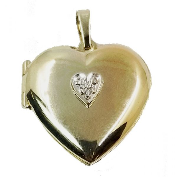 Heart Locket Pendant Jae's Jewelers Coral Gables, FL
