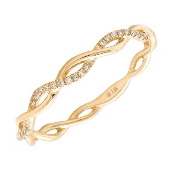 Yellow Gold Infinity Band Jae's Jewelers Coral Gables, FL