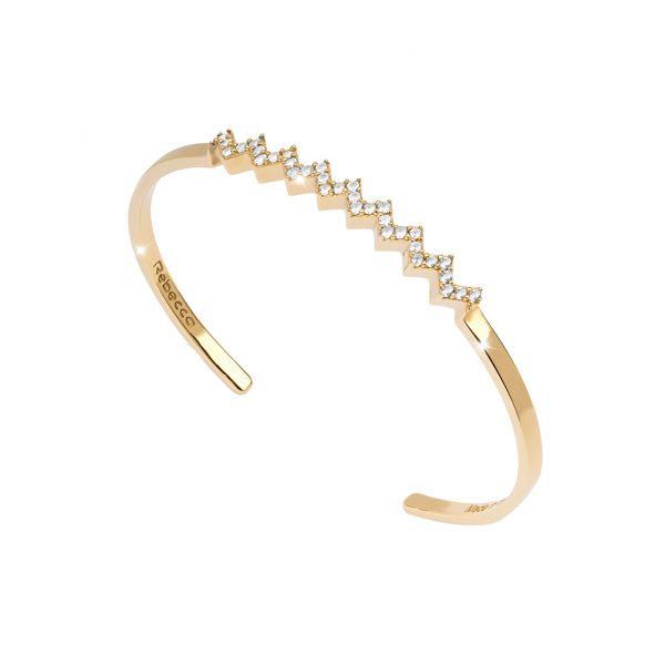 Yellow Plated Silver Bracelet From The Dubai Collection Jae's Jewelers Coral Gables, FL