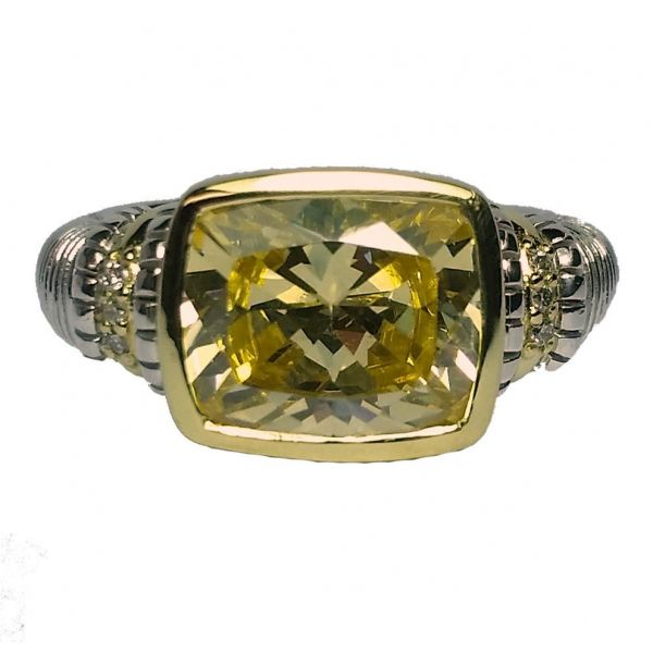 Judith Ripka Yellow Crystal Ring Jae's Jewelers Coral Gables, FL