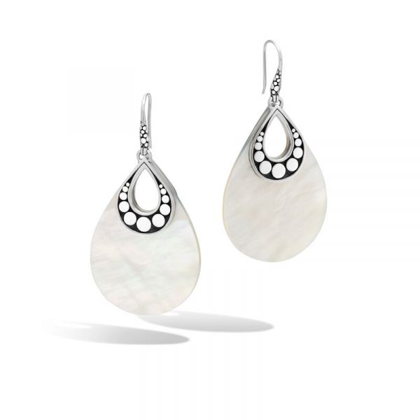 Drop Earring with White Mother of Pearl Jae's Jewelers Coral Gables, FL