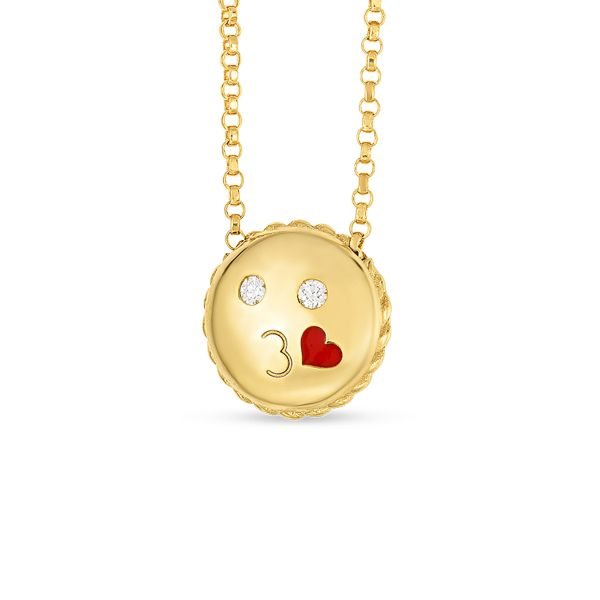 Emoji Kiss Necklace Image 2 Jae's Jewelers Coral Gables, FL