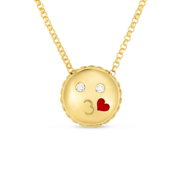 Emoji Kiss Necklace Jae's Jewelers Coral Gables, FL