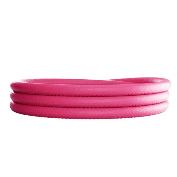 Fuschia Leather Charm Wrap Bracelet - 66cm Jae's Jewelers Coral Gables, FL