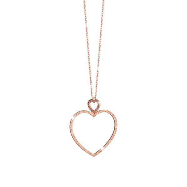 My Love Collection Bronze Open Heart Necklace Jae's Jewelers Coral Gables, FL