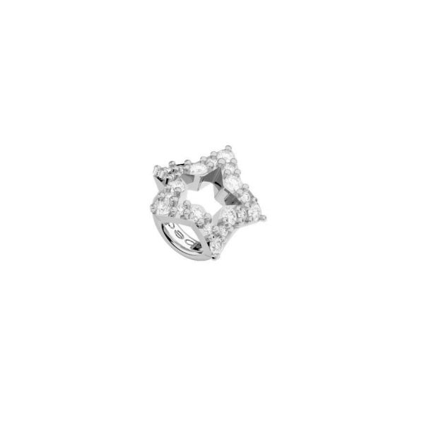 White Open Star Ring Charm Jae's Jewelers Coral Gables, FL