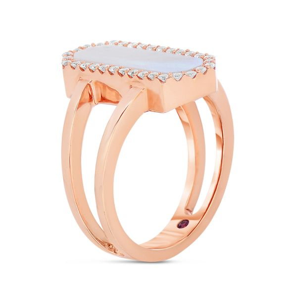 Art Deco Mother of Pearl Ring Image 2 Jae's Jewelers Coral Gables, FL