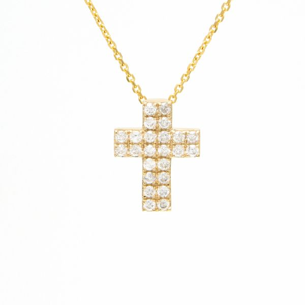 Yellow Gold Diamond Cross Necklace Jae's Jewelers Coral Gables, FL