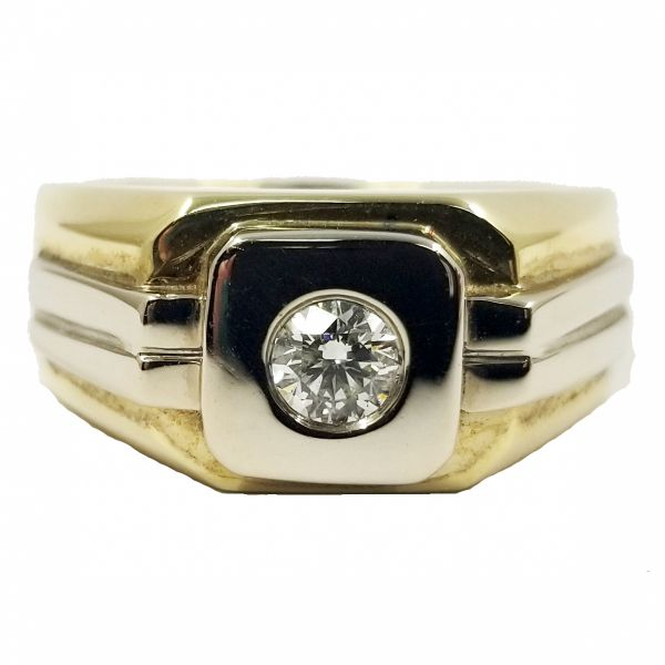 0.50 Carat Men's Two Tone Diamond Ring Jae's Jewelers Coral Gables, FL