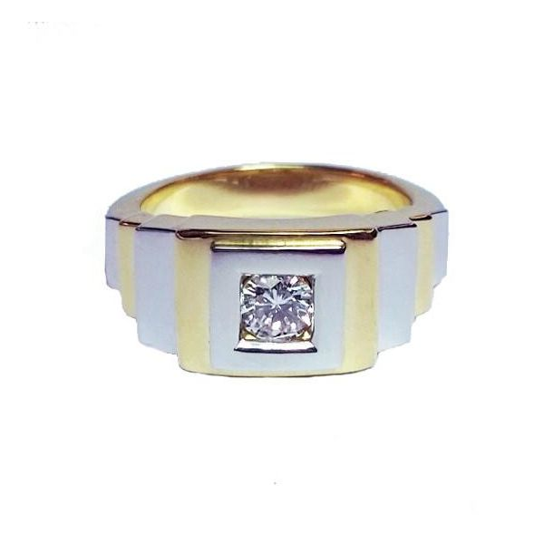 Mens Two-Tone Diamond Ring Jae's Jewelers Coral Gables, FL