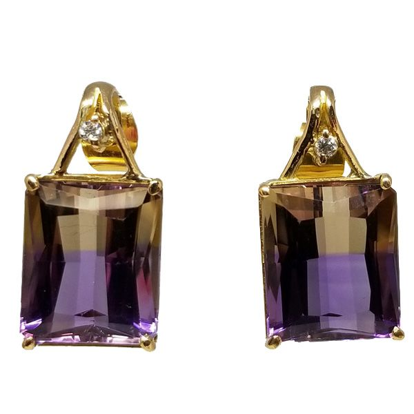 Ametrine Earrings Jae's Jewelers Coral Gables, FL