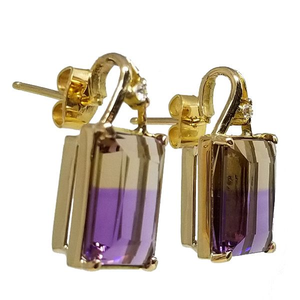Ametrine Earrings Image 2 Jae's Jewelers Coral Gables, FL