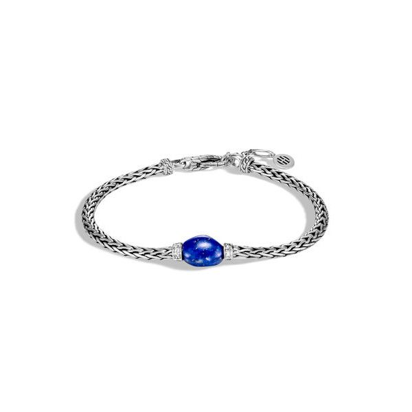 Classic Chain Bracelet with Lapis Lazuli Jae's Jewelers Coral Gables, FL