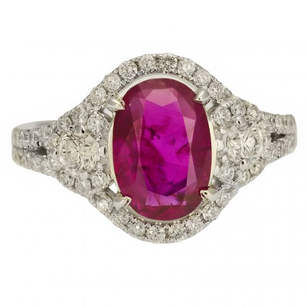 Unheated Burmese Ruby Ring Jae's Jewelers Coral Gables, FL