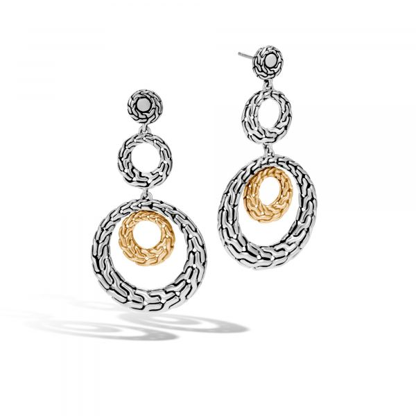 Two-Tone Drop Earrings Jae's Jewelers Coral Gables, FL