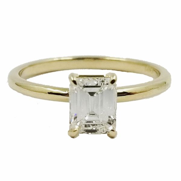 Emerald Cut Diamond Solitaire Ring Jae's Jewelers Coral Gables, FL