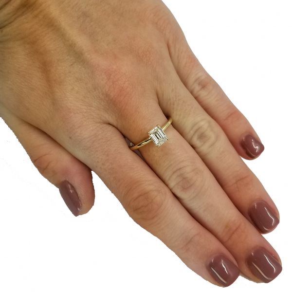 Emerald Cut Diamond Solitaire Ring Image 2 Jae's Jewelers Coral Gables, FL