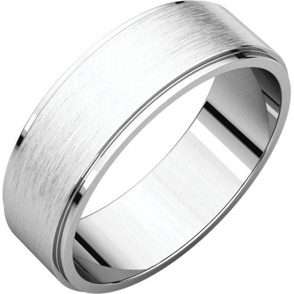 Satin Finish Flat Edge Band Jae's Jewelers Coral Gables, FL