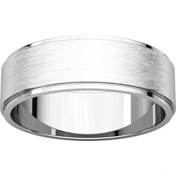 Satin Finish Flat Edge Band Image 2 Jae's Jewelers Coral Gables, FL