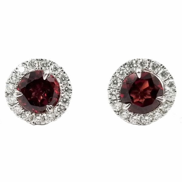 Garnet Stud Earrings Jae's Jewelers Coral Gables, FL