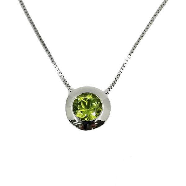 Green Tourmaline Necklace Jae's Jewelers Coral Gables, FL