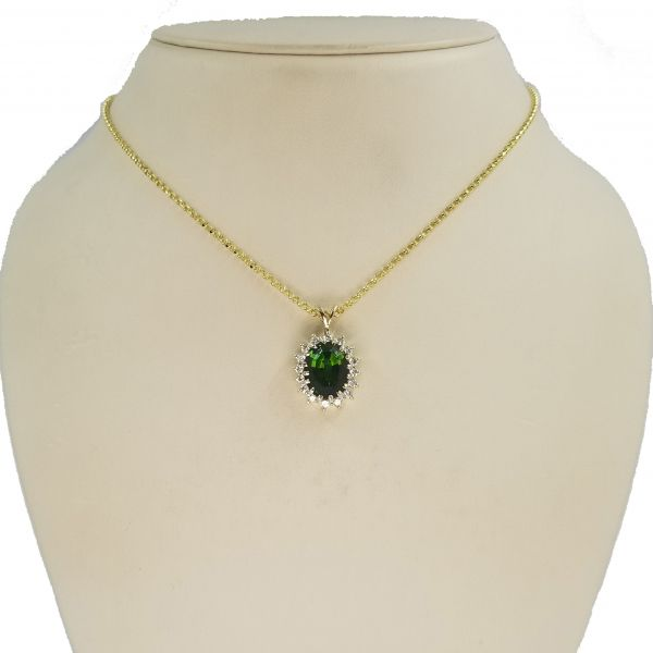 Green Tourmaline Necklace Image 2 Jae's Jewelers Coral Gables, FL