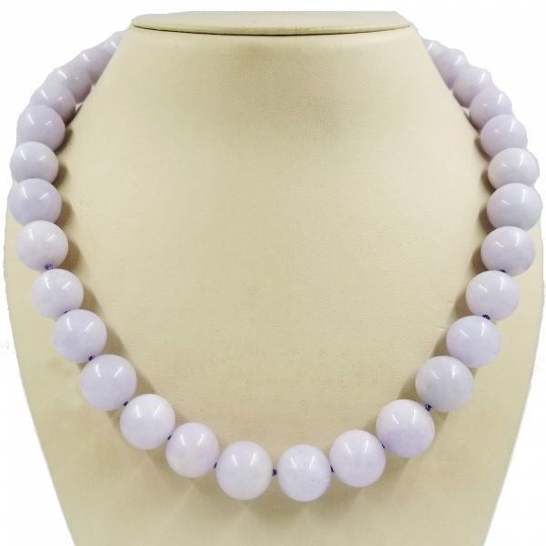 Lavender Jade Bead Necklace Jae's Jewelers Coral Gables, FL