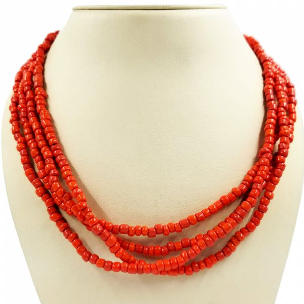 Long Coral Necklace Jae's Jewelers Coral Gables, FL